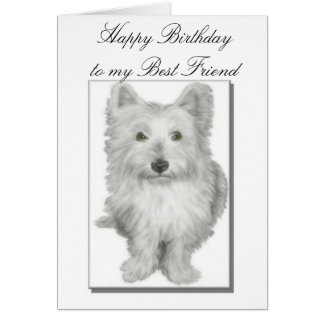 Beste Freund-Geburtstags-Karte Karte