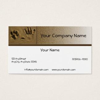 Beste Freund-Hundetatze und Handdruck Visitenkarte