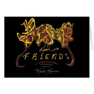 Beste Freund-Kalligraphie Karte
