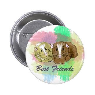 Beste Freund-Meerschweinchen-Entwurf Runder Button 5,7 Cm