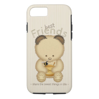 Beste Freund-niedlicher Honig-Bär und Biene iPhone 8/7 Hülle