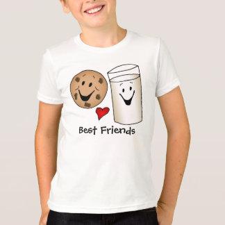 Beste Freund-Plätzchen und Milch-Cartoon-T - Shirt