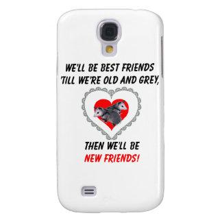Beste Freunde bebauen altes und Graues Galaxy S4 Hülle