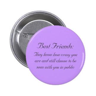 Beste Freunde Runder Button 5,7 Cm