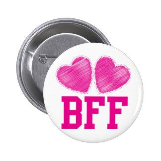 Beste Freunde der BESTEN FREUNDIN für immer!!! fan Runder Button 5,1 Cm