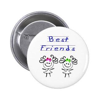 Beste Freunde des Strichmännchens Button