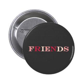 Beste Freunde FREUND-Knopf Runder Button 5,1 Cm