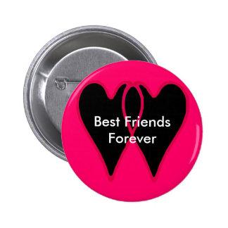 Beste Freunde für immer die MUSEUM Zazzle Geschenk Anstecknadelbutton