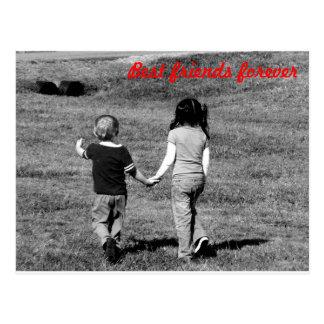 Beste Freunde für immer Postkarte