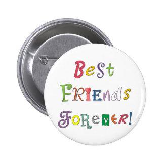 Beste Freunde für immer Runder Button 5,1 Cm