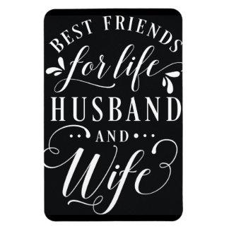 Beste Freunde für Leben-Ehemann und Ehefrau-Tafel Magnet