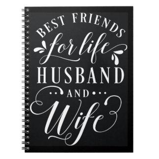 Beste Freunde für Leben-Ehemann und Ehefrau-Tafel Notizblock