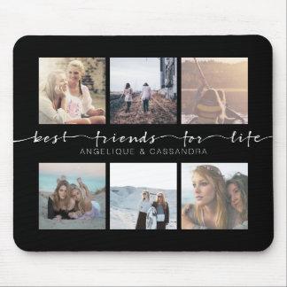 Beste Freunde für Leben-Typografie Instagram Fotos Mousepad