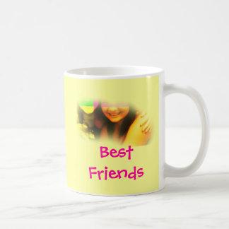 Beste Freunde gelb und rosa Tasse