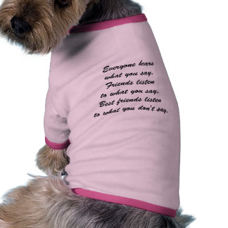 Beste Freunde hören Haustierhemden