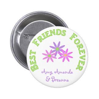 Beste Freunde knöpfen für immer Runder Button 5,7 Cm