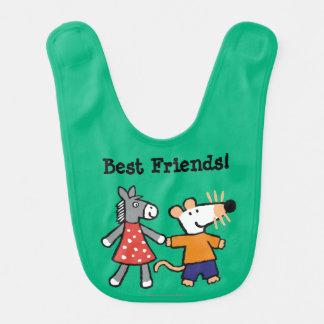 Beste Freunde Maisy und Dotty Griff-Hände Lätzchen