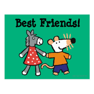 Beste Freunde Maisy und Dotty Griff-Hände Postkarte