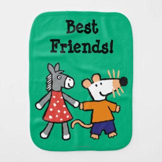 Beste Freunde Maisy und Dotty Griff-Hände Spucktuch