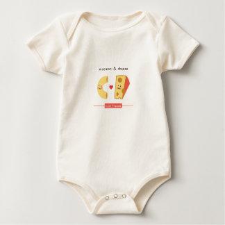 Beste Freunde: Makkaroni u. Käse Baby Strampler