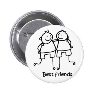 Beste Freunde Melhores Freunde Anstecknadelbutton