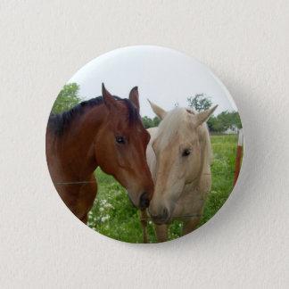 BESTE FREUNDIN beste Freund-für immer - Pferde Runder Button 5,1 Cm