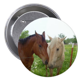 BESTE FREUNDIN beste Freund-für immer - Pferde Runder Button 7,6 Cm