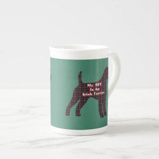 BESTE FREUNDIN irischer Terrier-Geschenke Porzellantasse