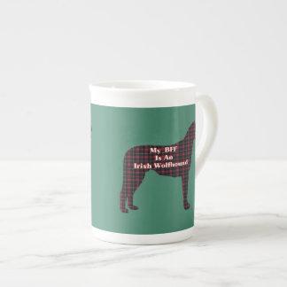 BESTE FREUNDIN irischer Wolfhound Porzellantasse