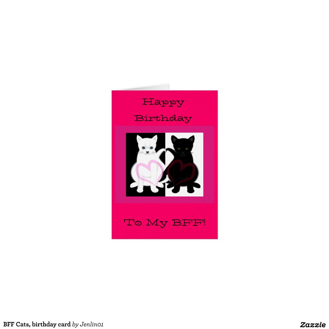 Beste freundin katzen geburtstagskarte gru karte zazzle - Weihnachtsgeschenkideen fa r beste freundin ...