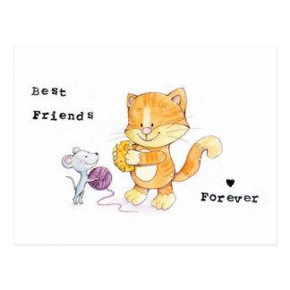 BESTE FREUNDIN Postkarte - beste Freunde für immer