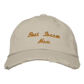 Beste Fußball-Mamma beunruhigte Baseballmütze Bestickte Kappe