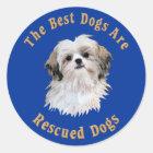 Beste Hunde sind geretteter Shih Tzu) Runder Aufkleber