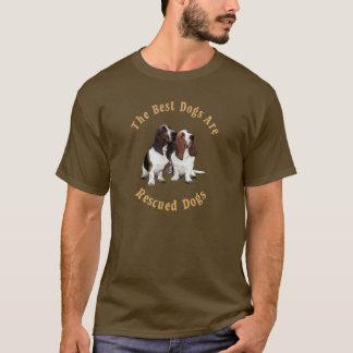 Beste Hunde sind gerettetes Basset Hound) T-Shirt