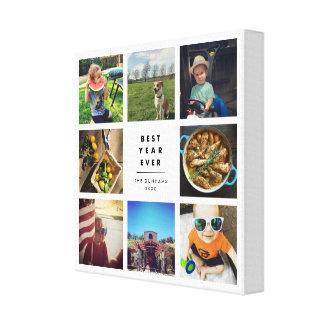 Beste Jahr überhaupt Instagram Foto-Collage Leinwanddruck