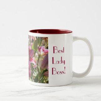Beste Kaffee-Tassen Lilie Meery Dame Boss heitre Zweifarbige Tasse