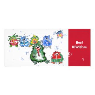 Beste KIWIshes Kiwi-WeihnachtsCartoon-Karte Personalisierte Einladungen