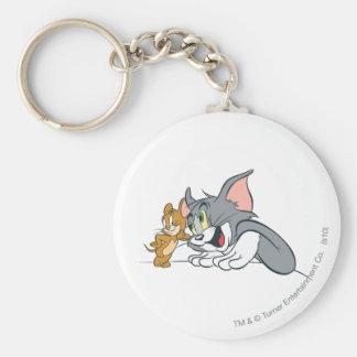 Beste Knospen Toms und Jerry Standard Runder Schlüsselanhänger