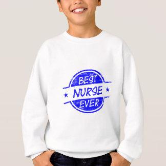 Beste Krankenschwester überhaupt blau Sweatshirt