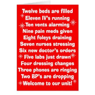 Beste Krankenschwester-Weihnachtskarten Karte