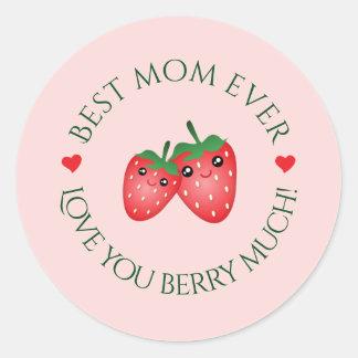 Beste Liebe der Mamma-überhaupt Mutter Tagesc$sie Runder Aufkleber