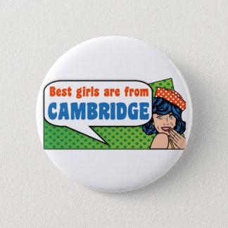 Beste Mädchen sind von Cambridge Runder Button 5,7 Cm