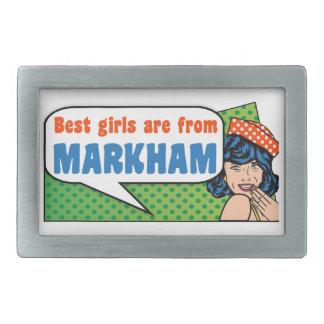 Beste Mädchen sind von Markham Rechteckige Gürtelschnalle