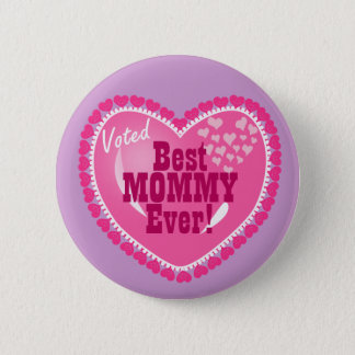 Beste Mama ÜBERHAUPT! Runder Button 5,1 Cm