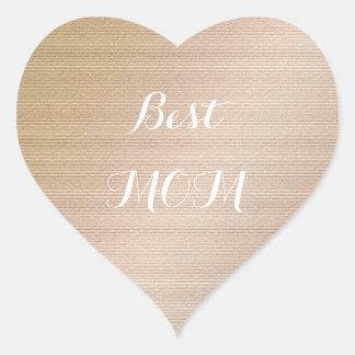 Beste Mamma Herz-Aufkleber