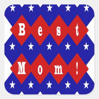 Beste Mamma in der patriotischen Diamant-Form Aufkleber