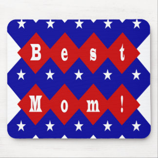 Beste Mamma in der patriotischen Diamant-Form Mousepads