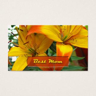 Beste Mamma-Lilien Visitenkarte