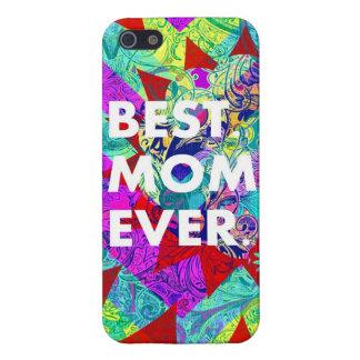 BESTE MAMMA ÜBERHAUPT bunte abstrakte Mutter-Tages iPhone 5 Case