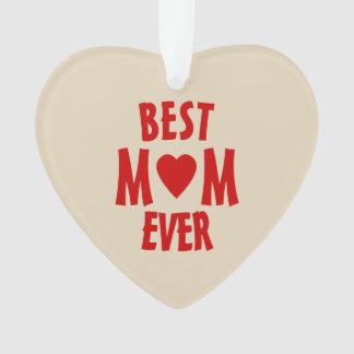 Beste Mamma-überhaupt Herz-Verzierungs-Perle Ornament